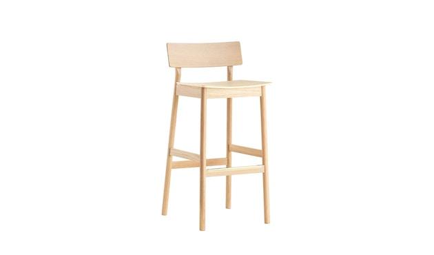 Woud - Pause Bar Stuhl - Sitzhöhe 65 cm - white pigmented lacquer oak - 2