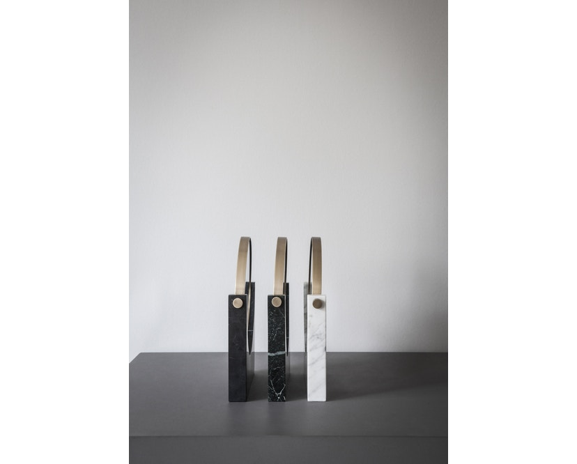 Menu - Pepe Marble Kosmetikspiegel - Messing/schwarz - 9