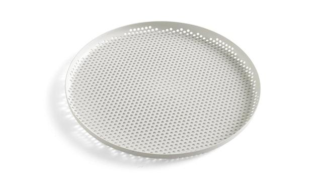 HAY - Perforiertes Tablett - soft grey - L - 1