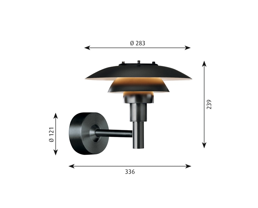 Louis Poulsen - PH 3-2½ buitenlamp - 2