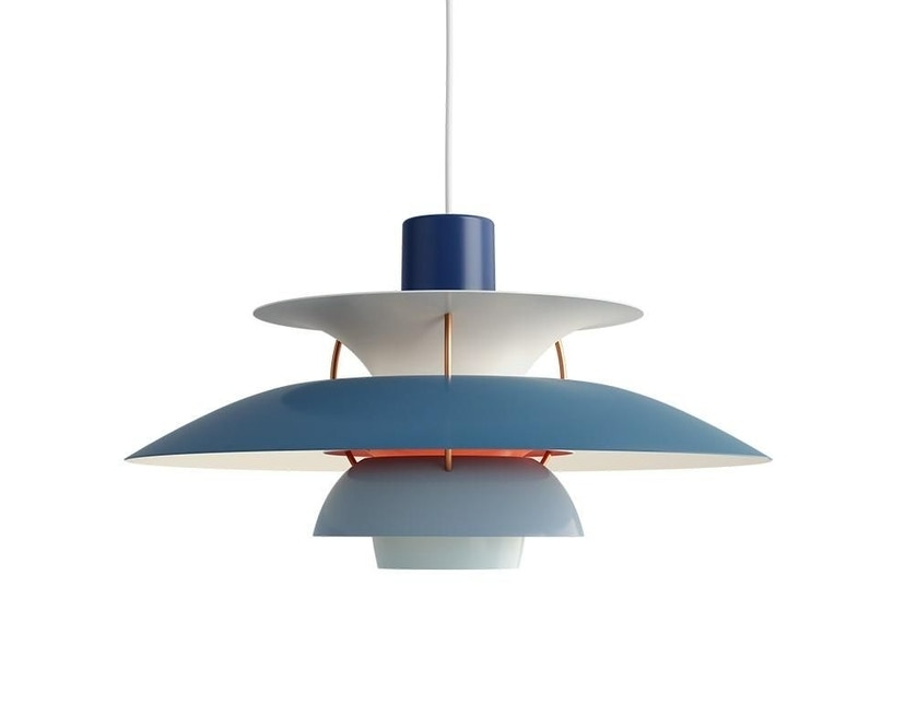 Louis Poulsen - Suspension PH 5 - bleu - 1