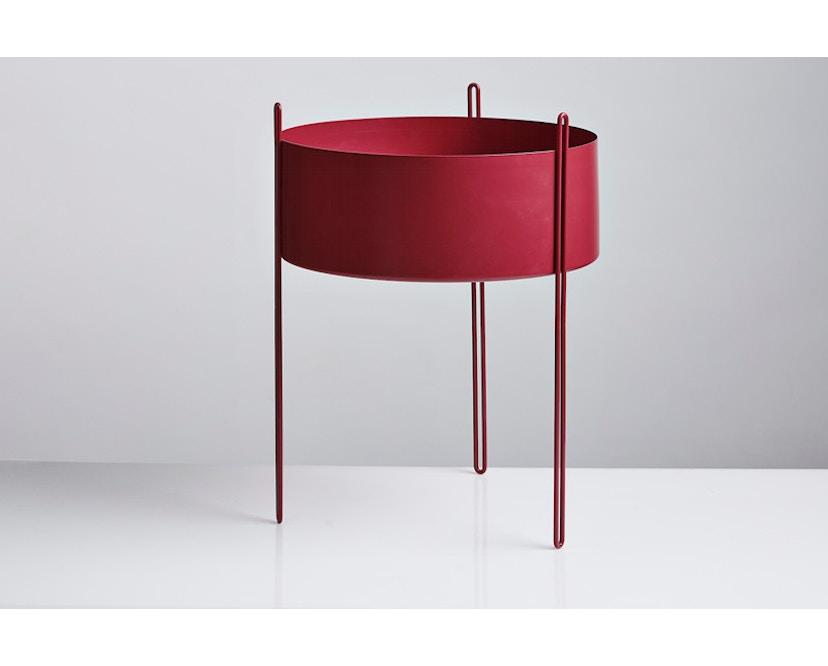 Woud - Pidestall Blumentopf - Large, red - 2