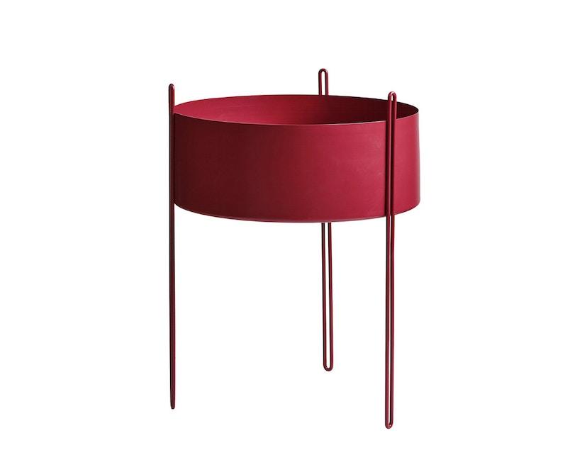 Woud - Pidestall Blumentopf - Large, red - 1
