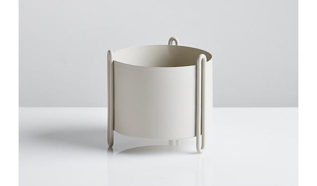 Woud - Pidestall Blumentopf - Small, grey - 2
