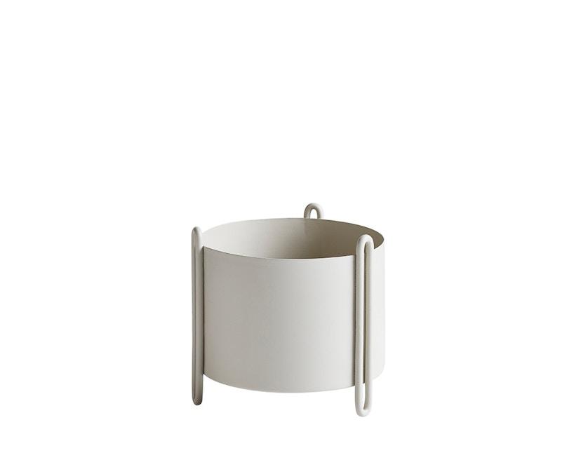 Woud - Pidestall Blumentopf - Small, grey - 1