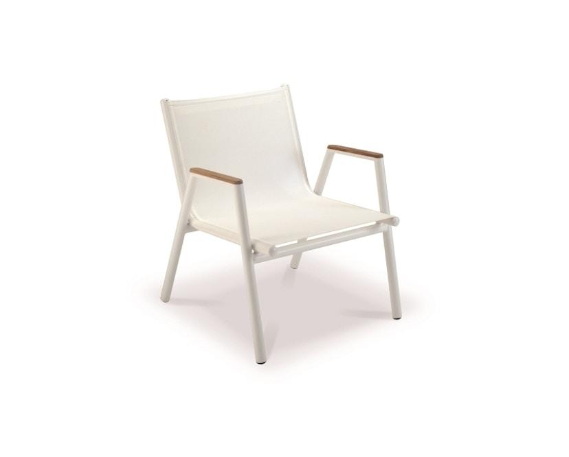 Vlaemynck - Pilotis Tiefer Sessel mit Armlehne - weiß - 1