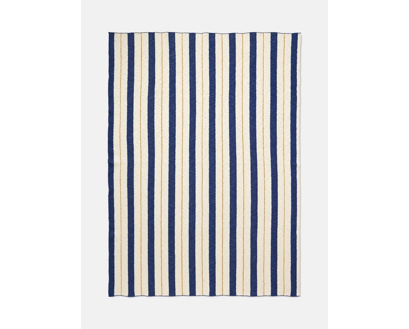 ferm LIVING - Pinstriple deken - blauw - 1