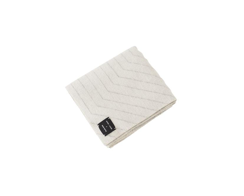 Made By Hand - PINSTRIPE THROW Decke - white - 4
