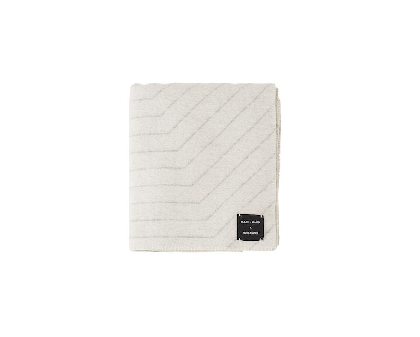 Made By Hand - PINSTRIPE THROW Decke - white - 1