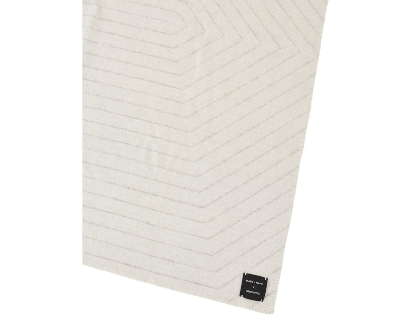 Made By Hand - PINSTRIPE THROW Decke - white - 2