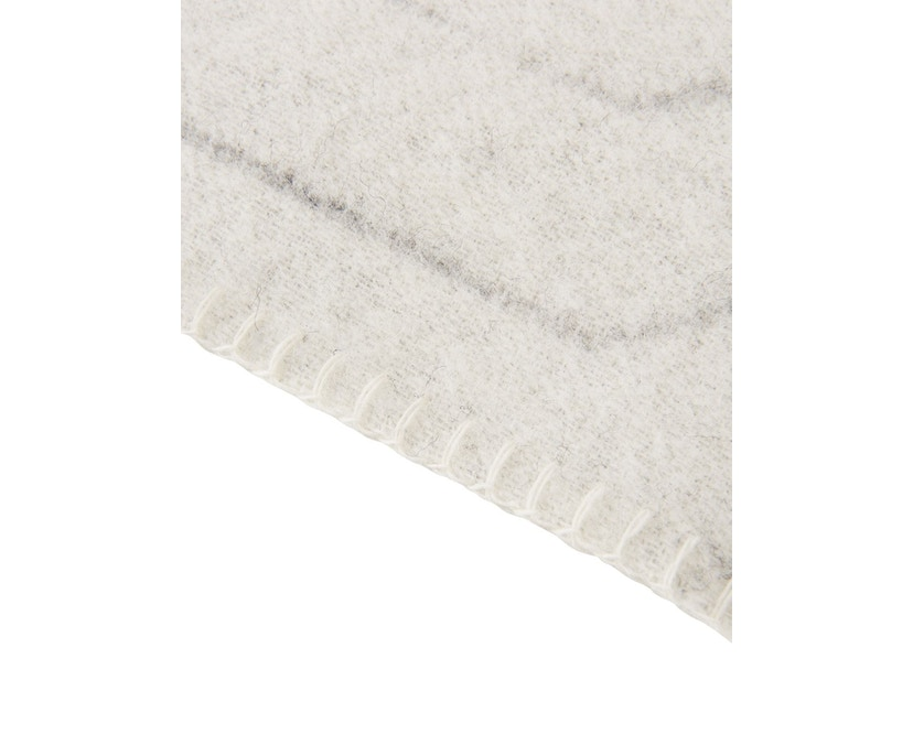 Made By Hand - PINSTRIPE THROW Decke - white - 5