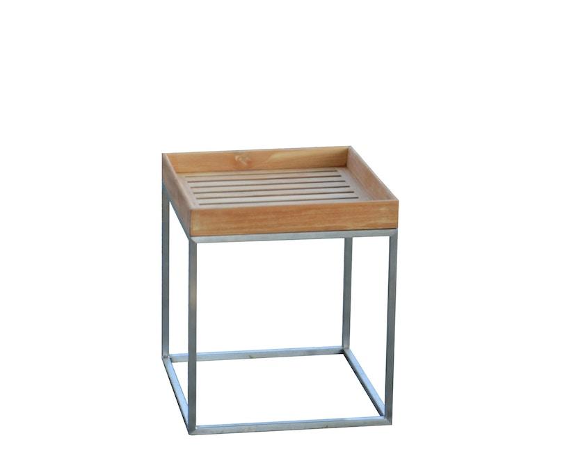Jan Kurtz - Pizzo Outdoor Teak - Gestell Edelstahl - 40x40 cm - 2