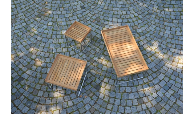 Jan Kurtz - Pizzo Outdoor Teak - Gestell Edelstahl - 40x40 cm - 3