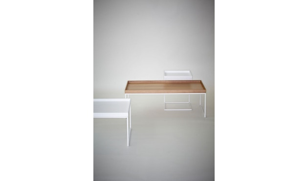 Jan Kurtz - Table d'appoint Pizzo  - 40 x 52 x 40 cm - frêne blanc - blanc - 5