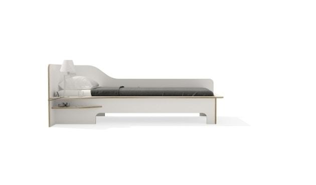 Müller Möbelwerkstätten - Plane Einzelbett - CPL weiß - links - ohne Bettkasten - 4