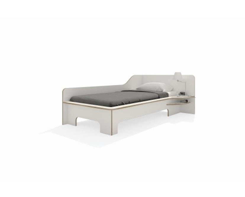 Müller Möbelwerkstätten - Plane Einzelbett - CPL weiß - rechts - ohne Bettkasten - 4