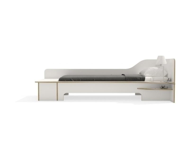 Müller Möbelwerkstätten - Plane Einzelbett - CPL weiß - rechts - mit Bettkasten - 6