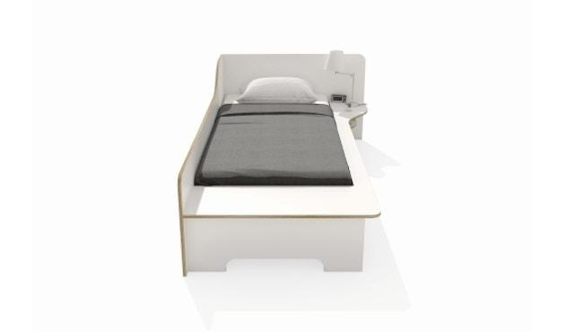 Müller Möbelwerkstätten - Plane Einzelbett - CPL weiß - rechts - mit Bettkasten - 7