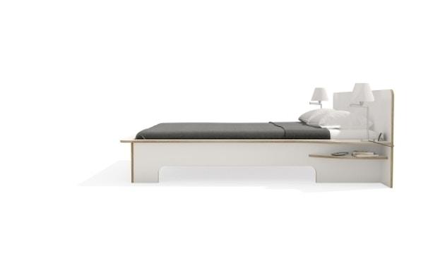 Müller Möbelwerkstätten - Plane Doppelbett - CPL weiß - 140 x 200 - ohne Bettkasten - 4
