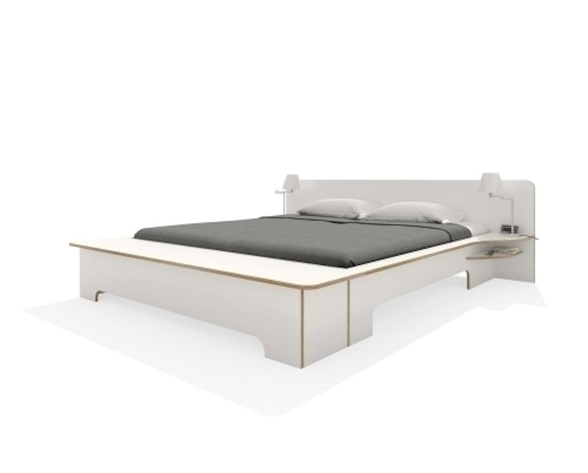 Müller Möbelwerkstätten - Plane Doppelbett - CPL weiß - 180 x 200 - mit Bettkasten - 1