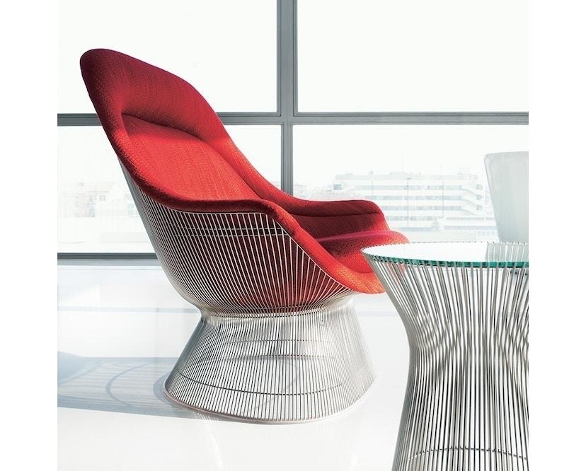 Knoll International - Platner Easy Sessel - Circa schwarz - polierter Nickel - 2