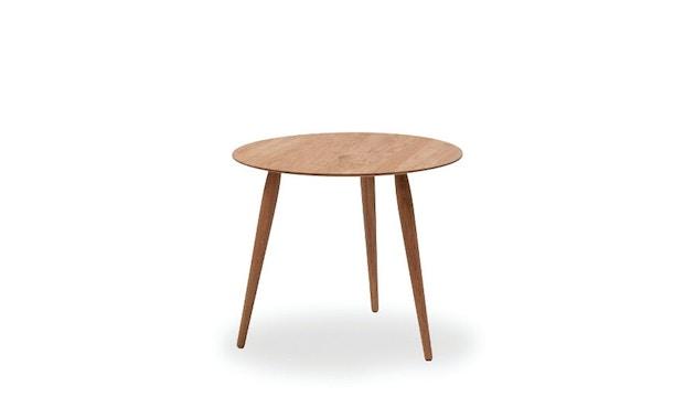 bruunmunch - Playround Beistelltisch Ø52 - 44 cm - Platte Eiche natur geölt - Beine Eiche natur geölt - 1