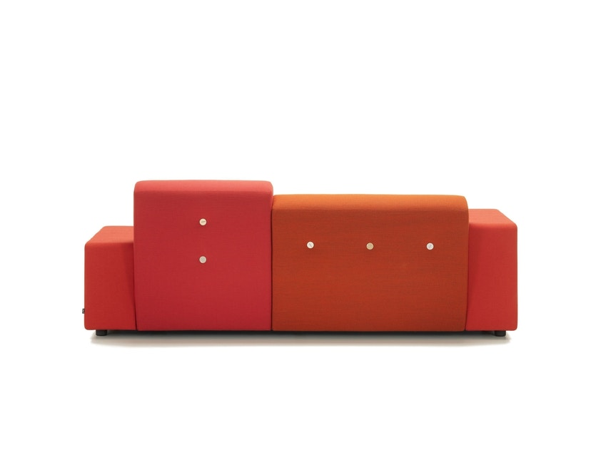 Vitra - Polder Compact Sofa - niedrige Armlehne sitzend rechts - Stoffmix red - 8