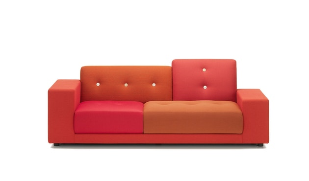 Vitra - Polder Compact Sofa - niedrige Armlehne sitzend rechts - Stoffmix red - 6