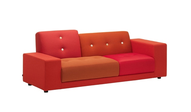 Vitra - Polder Compact Sofa - niedrige Armlehne sitzend rechts - Stoffmix red - 9