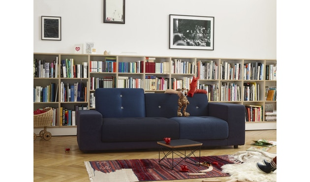 Vitra - Polder Compact Sofa - niedrige Armlehne sitzend rechts - Stoffmix red - 11