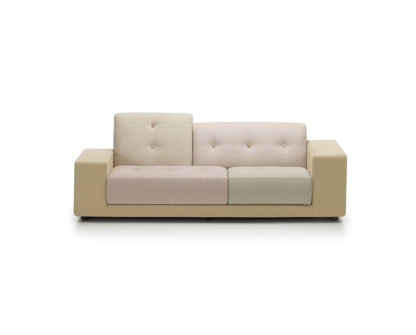 Vitra - Polder Compact Sofa - niedrige Armlehne sitzend rechts - Stoffmix pastel - 1