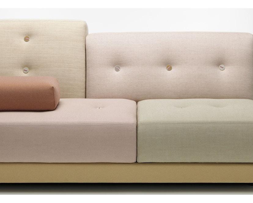 Vitra - Polder Compact Sofa - niedrige Armlehne sitzend rechts - Stoffmix pastel - 3