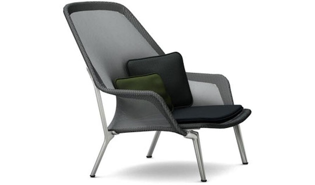 Vitra - Slow Chair Sessel- poliert, schwarz - 1