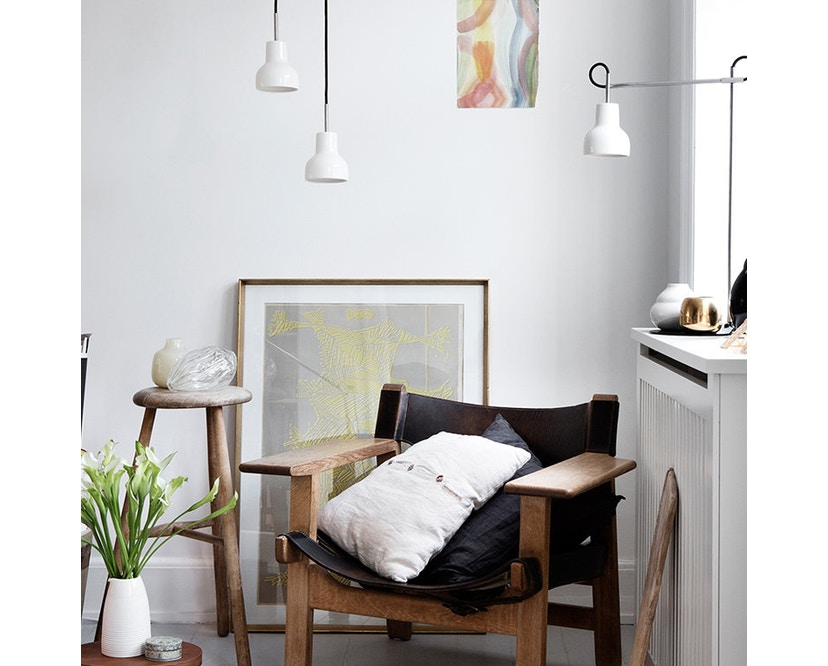 Made By Hand - Porcelight P14 Hängeleuchte - Kabelfarbe weiß - Baldachin weiß - 3