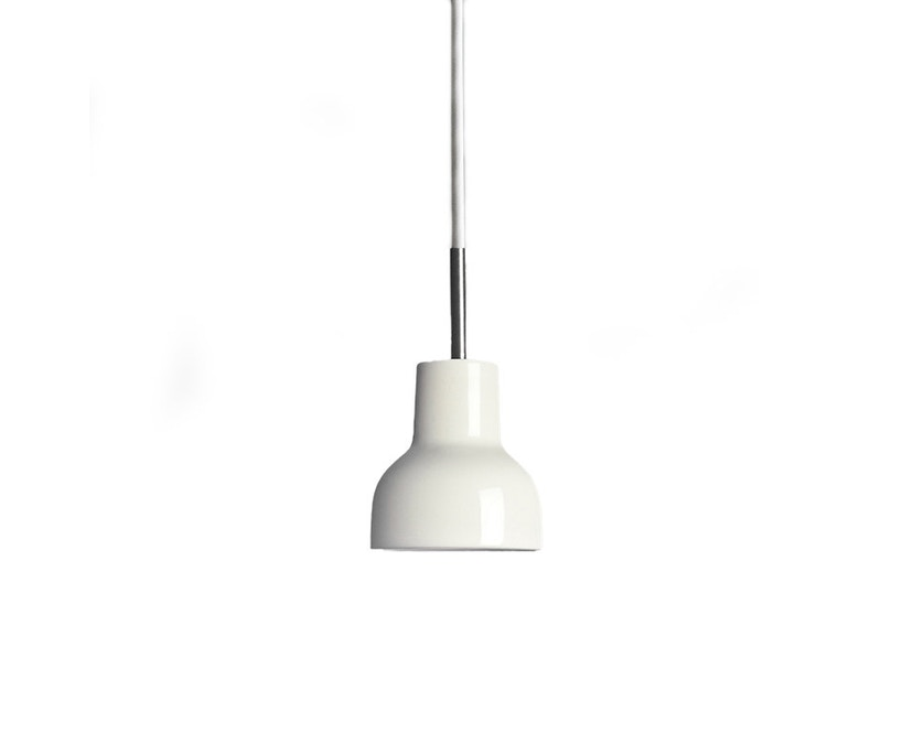 Made By Hand - Porcelight P11 Hängeleuchte - Kabelfarbe weiß - Baldachin weiß - 1