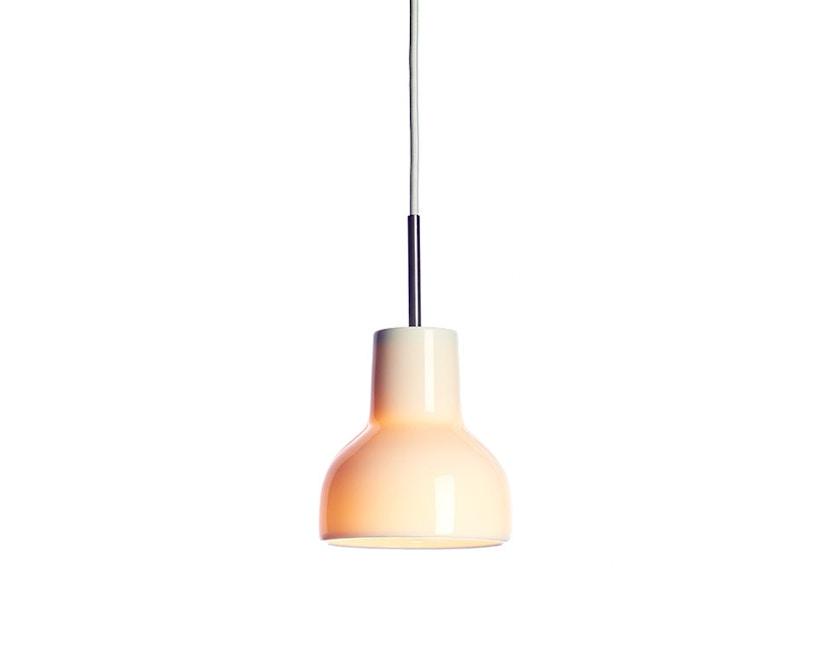 Made By Hand - Porcelight P14 Hängeleuchte - Kabelfarbe weiß - Baldachin weiß - 2