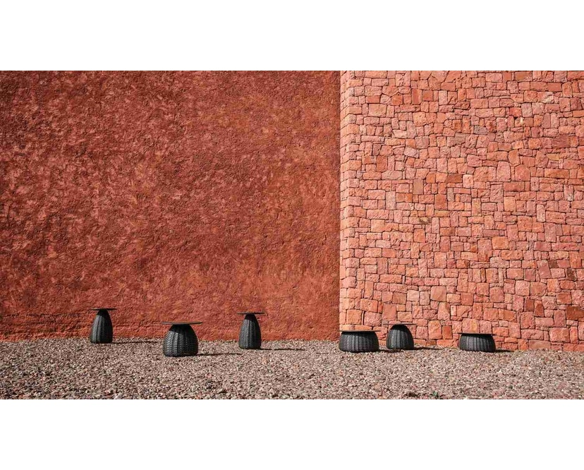 Dedon - Porcini Beistelltisch Ø 51 x Höhe 40 cm, Keramik Base - 301 Black - 3