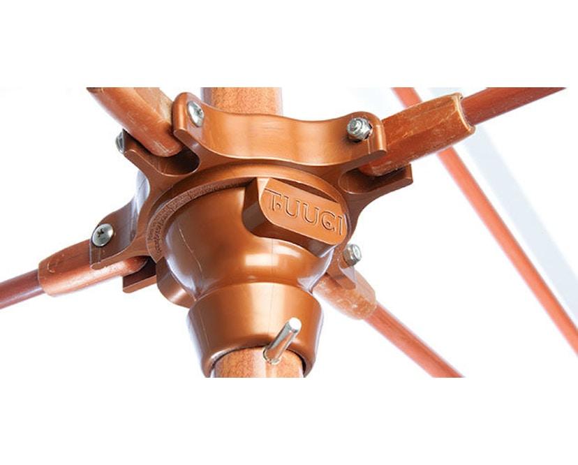 Tuuci - Vineyard fiberflex Sonnenschirm  - natural - 2,25 m quadratisch - 5