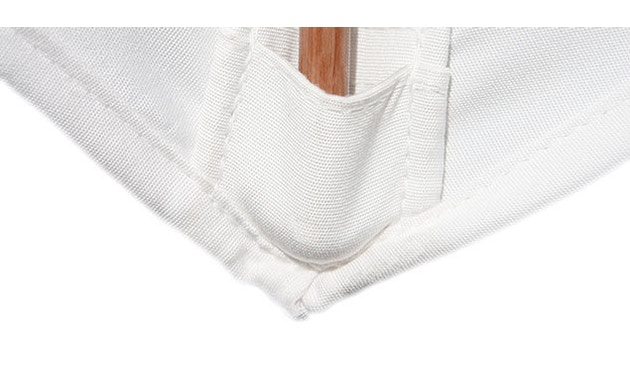 Tuuci - Vineyard fiberflex zonnescherm - natuurwit - 2,3 m vierkant - 6