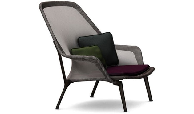Vitra - Slow Chair Sessel- pulverbeschichtet braun - 1