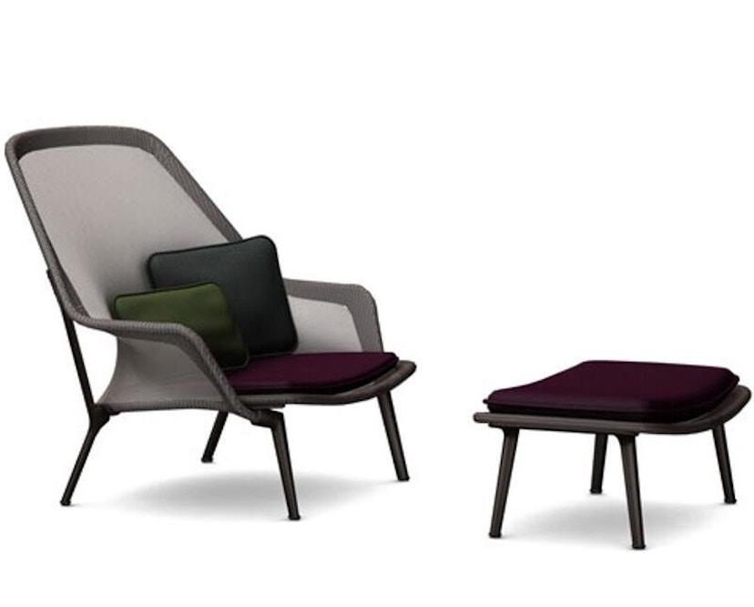 Vitra - Slow Chair Ottoman - beschichtet, braun - 2
