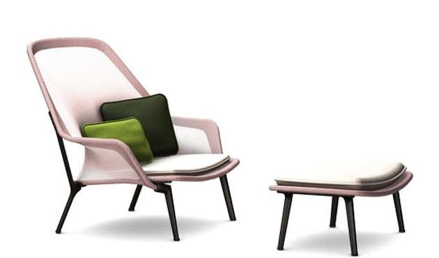 Vitra - Slow Chair Ottoman - beschichtet, rot - 2