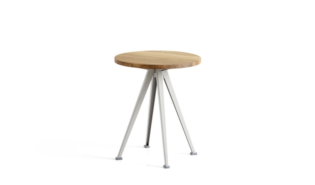 HAY - Pyramid Coffee Tisch 51 - Eiche klar lackiert - Gestell beige - Ø 45,5 - 1