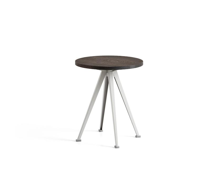 HAY - Pyramid Coffee Tisch 51 - Eiche geräuchert - Gestell beige - Ø 45,5 - 1