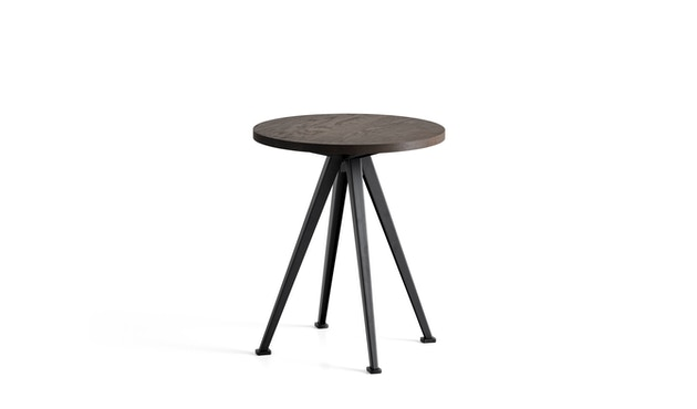 HAY - Pyramid Coffee Tisch 51 - Eiche geräuchert - Gestell schwarz - Ø 45,5 - 1
