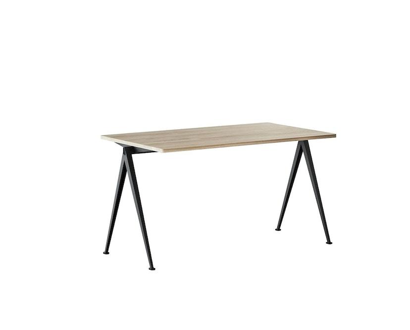 HAY - Pyramid Schreibtisch - Eiche matt lackiert - Gestell schwarz - 140 x 65 cm - 1