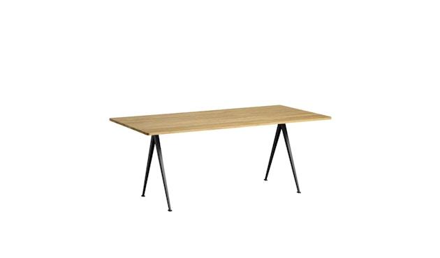 HAY - Pyramid Tisch - Eiche klar lackiert - Gestell schwarz - 190x85 cm - 2