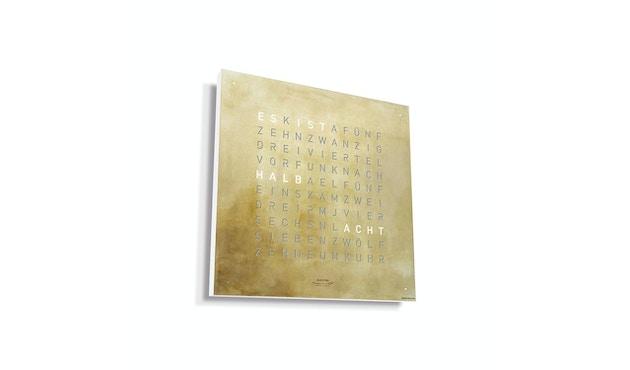Qlocktwo CREATOR´S EDITION - deutsch - silber & gold
