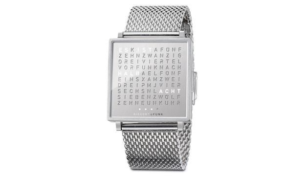 QLOCKTWO - Qlocktwo W35 Fine Steel - Armbanduhr - deutsch - 1