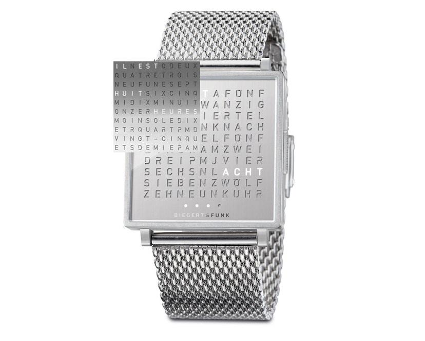 QLOCKTWO - Qlocktwo W35 Fine Steel - Armbanduhr - französisch - 1